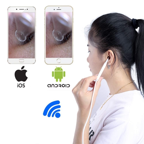 Wifi USB Digital Earscope Ear Otoscope Earpick with Case for iPhone iPad Android Windows Mac Intraoral Camera HD Mini Handheld