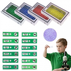 Microscope Prepared Plastic Slides for Kid Children Studend Biological Specimen for Mini Camera Microscope Education