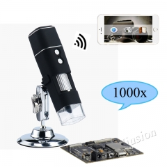 1000X WiFi Digital Microscope for Android Iphone Mobile Phone 8 LED Kids Digital Microscope USB Endoscope Zoom Camera
