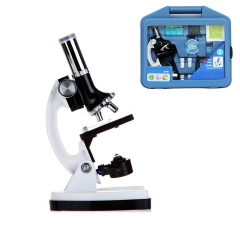 Jiusion 300/600/1200X Kids Microscope Kit Magnification with Case 28-Piece Accessories Handheld Beginners Science Compound Monocular Biological Scope