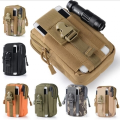 Outdoor Sports Molle Hip Waist Belt Bag with Zipper Wallet Purse Military Waist Fanny Pack