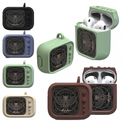 Owl Television Protective Silicone Skin Holder Bag AirPods Case