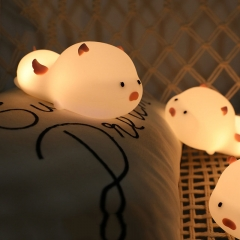 Stay Cute Pig Pat Silicone Bedroom Bedside Night Light