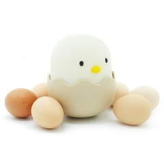 Eggshell Chicken Emotional Night Lights Bedsides Tumbler Silicone Chicken Baby Feeding Lamp