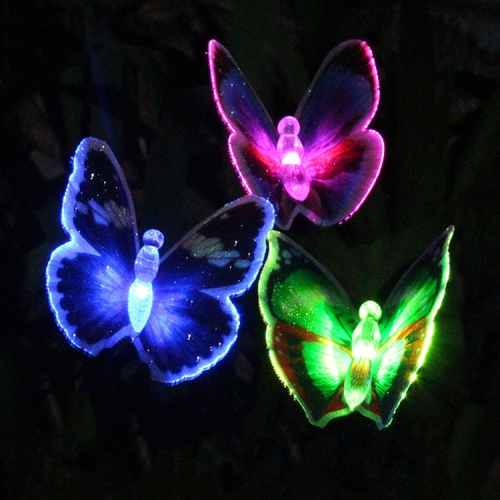 Inserted Lawn Lights Colorful Outdoor Waterproof Courtyard Solar Butterfly Light