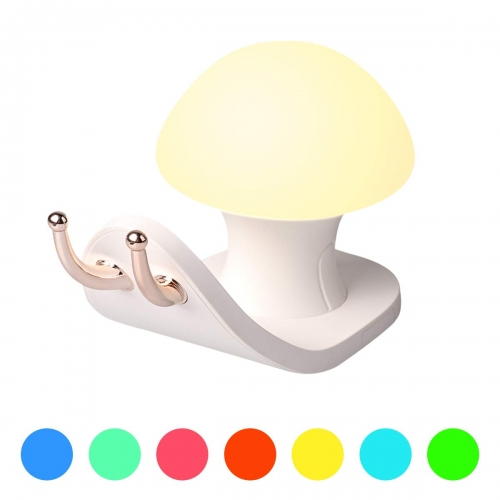 Snail House Night Light Colorful Atmosphere USB Charging Phone Bracket Bedside Lamp