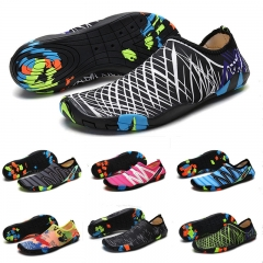 Beach Summer Outdoor Wading Shoes Swimming Slipper Skin Sock Striped Water Shoes