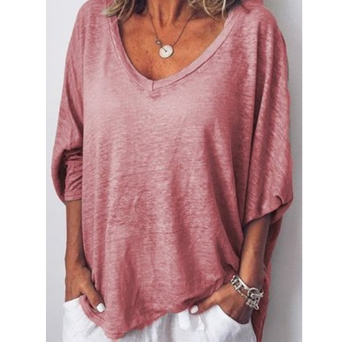 Sweetheart Neck Batwing Sleeve Casual Top