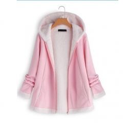 Zipper Up Pockets Winter Coat For Women